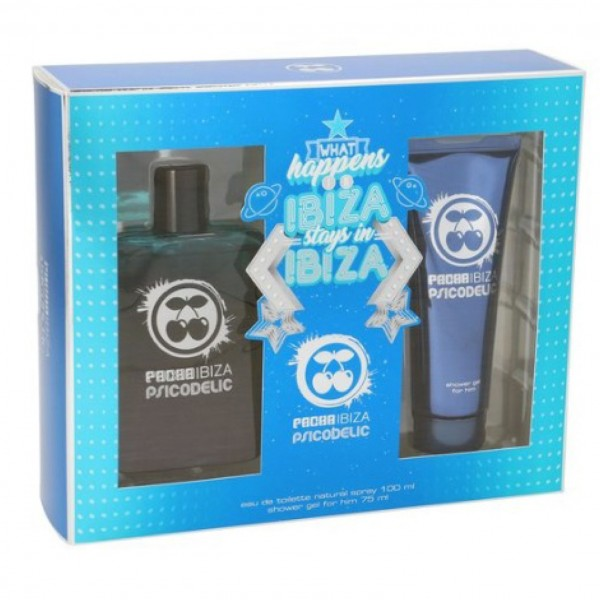 PACHA IBIZA PSICODELIC SET for him  EDT 100 ml + Shower Gel 75 ml